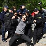 Protestowali przed siedzibą KRS. 11 osób trafiło na komisariat