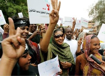 Protestujące kobiety /AFP