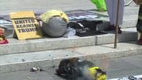 Protestujący Meksykanie spalili kukłę Trumpa