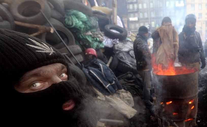 Protestujący na kijowskim Majdanie /AFP