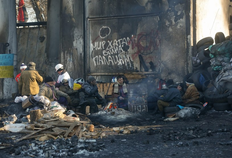 Protestujący na Ukrainie /AFP