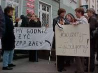 Protestujący personel szpitala /RMF