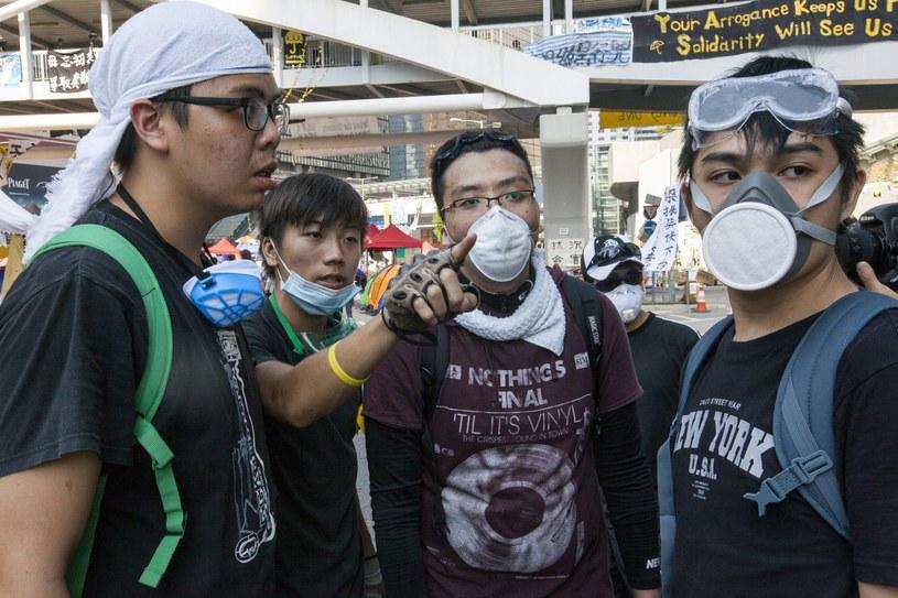 Protestujący studenci /PAP/EPA