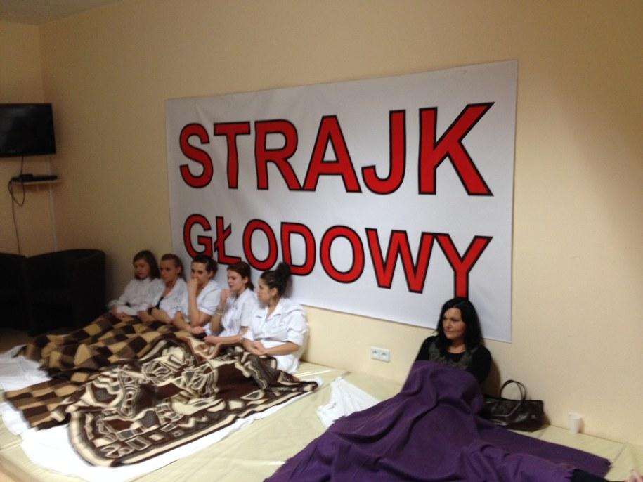 Protestujący w szpitalu /Mariusz PIekarski /RMF FM