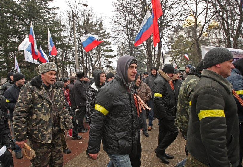 Protesty na Krymie /PAP/EPA