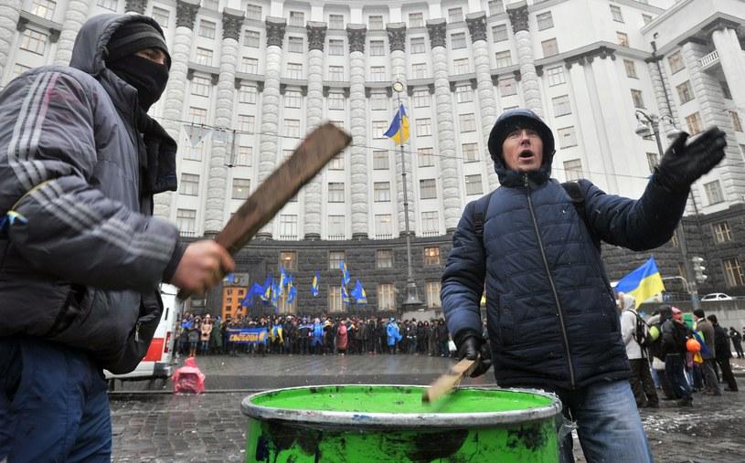 Protesty na Ukrainie /AFP