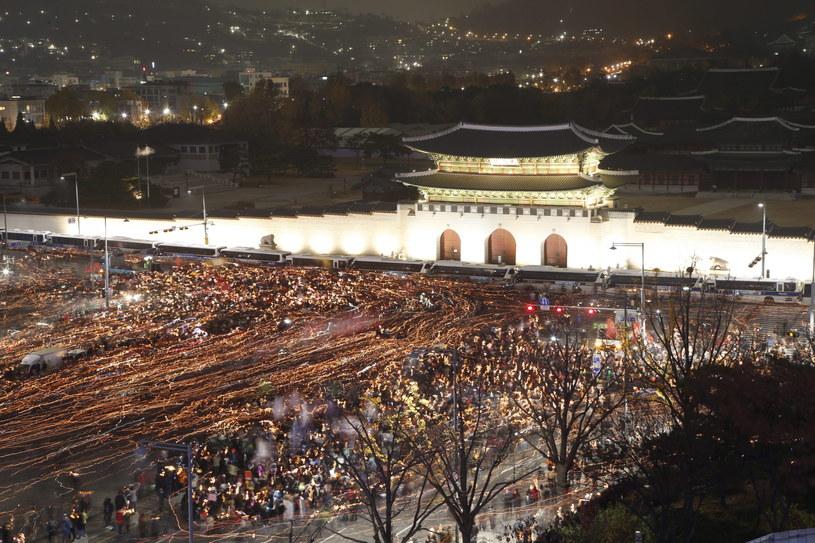 Protesty przeciwko prezydent /JEON HEON-KYUN /PAP/EPA