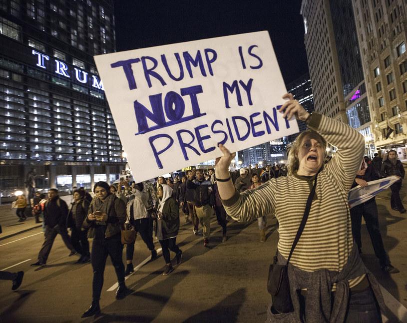 Protesty uliczne przeciwko wygranej Trumpa w wyborach prezydenckich /AFP
