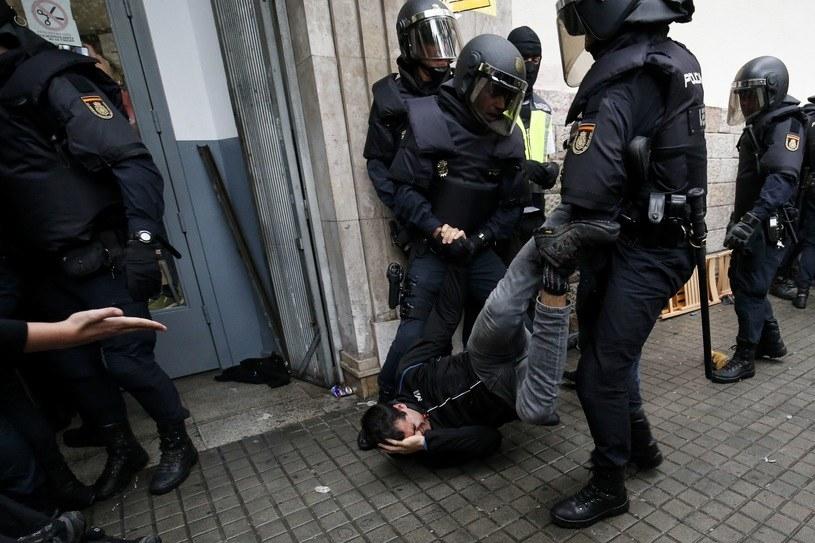 Protesty w Katalonii /AFP