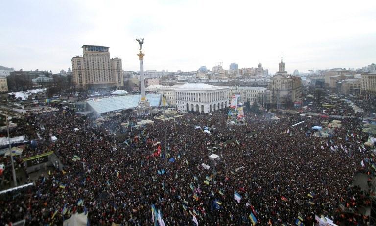 Protesty w Kijowie /AFP
