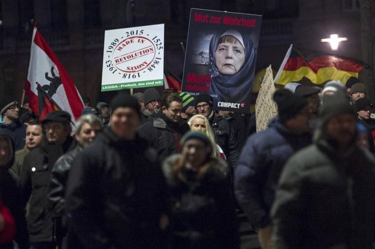 Protesty w Lipsku /AFP