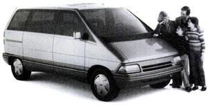 Prototypowy Ford Aerostar - amerykański naśladowca nowej koncepcji. Przy tak pochylonej przedniej szybie klimatyzacja wydaje się czymś bezwzględnie koniecznym. /Ford