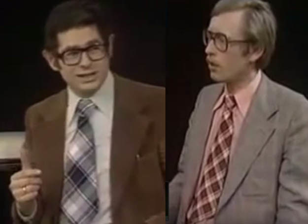 """Prowadzący """"Sondę"""": Zdzisław Kamiński (z lewej) i Andrzej Kurek          /Kadr z programu """"Sonda"""", YouTube /INTERIA.PL"""