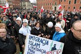 Przeciwnicy przyjmowania imigrantów znów wyszli na ulice