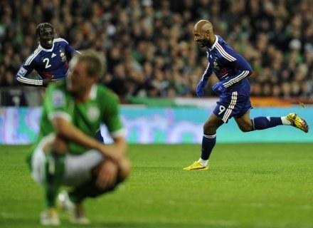 Przed chwilą Nicolas Anelka zdobył gola dla Francuzów. /AFP