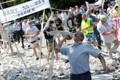 Przed Sejmem taksówkarze protestowali przeciwko deregulacji