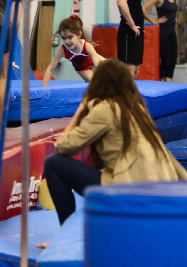 Przed wypadkiem Katie zabrała córkę na zajęcia z gimnastyki /Splashnews