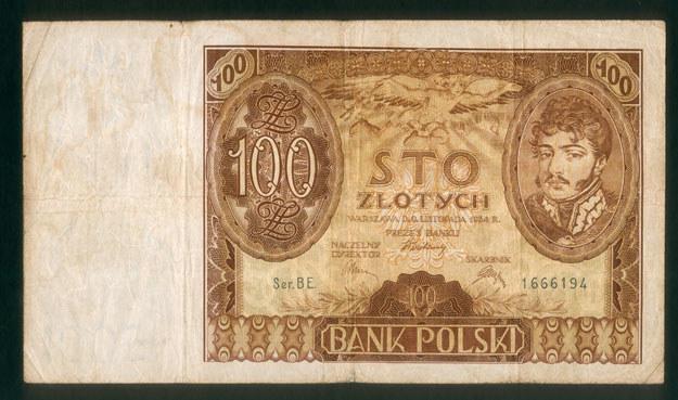 Przedwojenne polskie banknoty /Leszek Kasprzak /Agencja FORUM