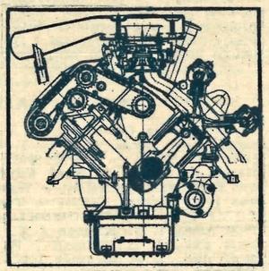 Przekrój silnika Maserati V6 o pojemności 2670 cm3 i mocy 170 KM. /Citroen