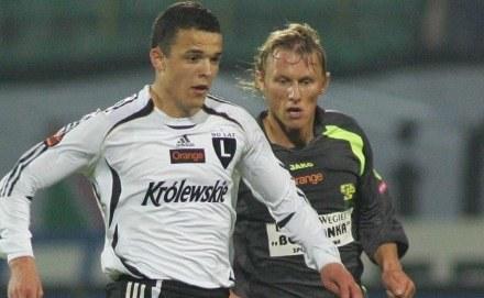 Przemysław Kulig (z prawej) w pogoni za Dawidem Janczykiem /Agencja Przegląd Sportowy