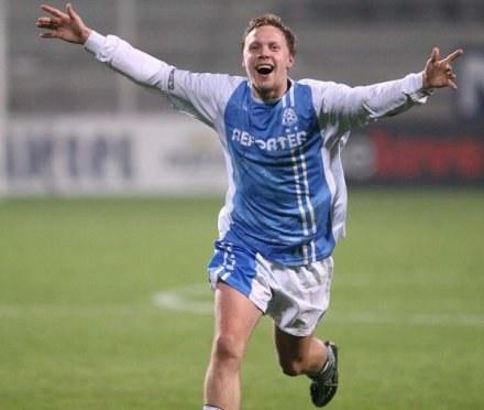 Przemysław Łudziński zdobył zwycięskiego gola, fot. Tomasz Markowski /Agencja Przegląd Sportowy