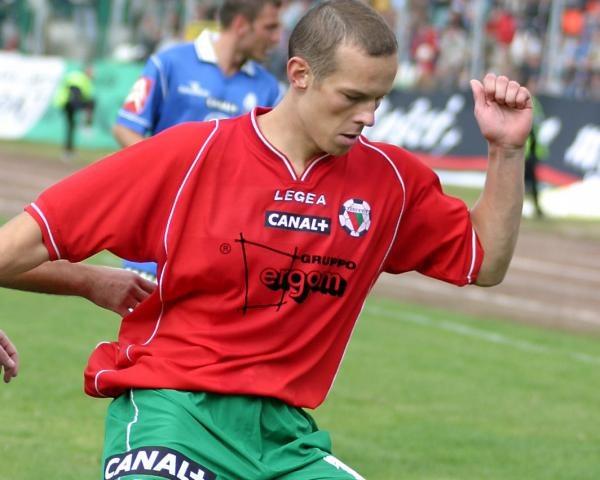 Przemysław Pitry był bohaterem meczu Zagłębie - Podbeskidzie Fot. Wojciech Łysko /Agencja Przegląd Sportowy