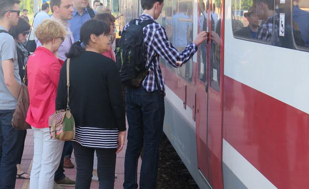 Przepełnione pociągi na trasie Wieliczka - Kraków