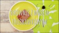 Przepis na brownie z musem truskawkowym