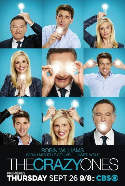 """""""Przereklamowani"""": Zwariowane relacje Simona (Robin Williams) i Sydney (Sarah Michelle Gellar) pracujących w reklamie nie bawią do łez. /materiały prasowe"""
