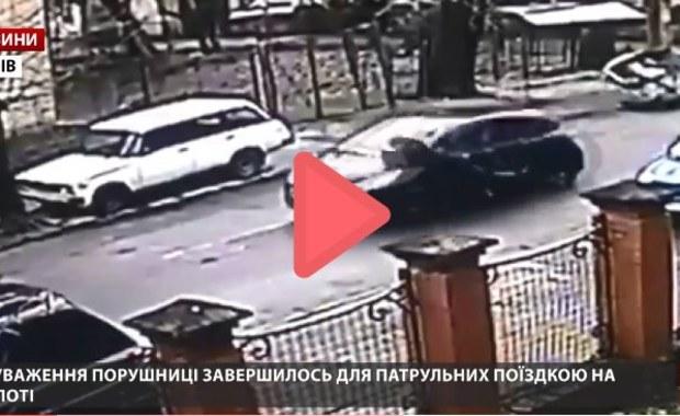 """""""Przewiozła"""" przez kilkaset metrów policjanta na masce auta"""