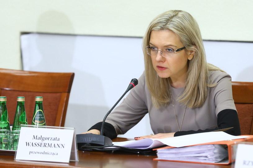 Przewodnicząca komisji Małgorzata Wassermann /Rafał Guz   /PAP