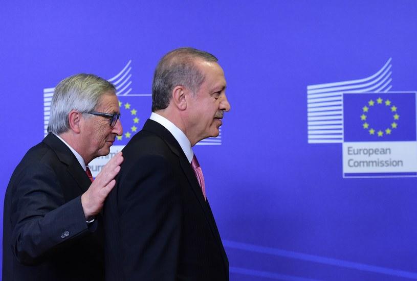 Przewodniczący KE Jean-Claude Juncker i prezydent Turcji Recep Tayyip Erdogan /AFP