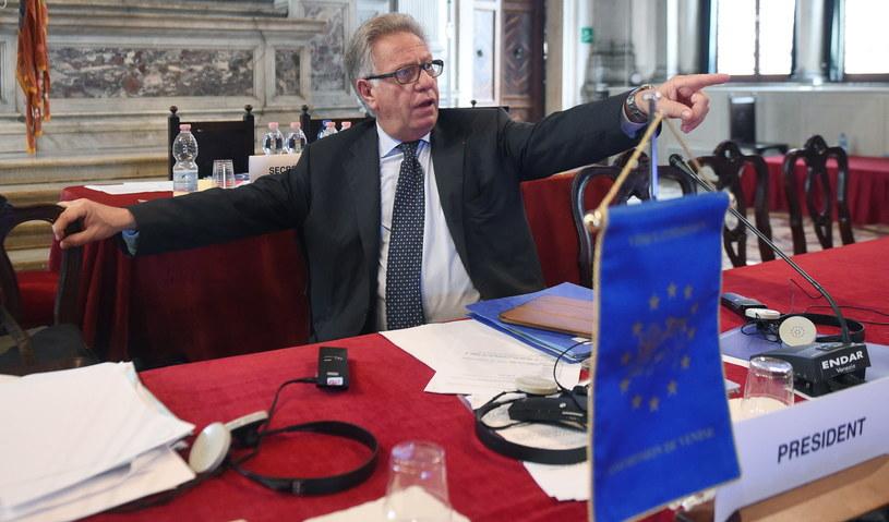 Przewodniczący Komisji Weneckiej Gianni Buquicchio /Radek Pietruszka /PAP
