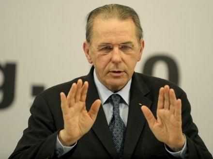Przewodniczący MKOl Jacques Rogge /AFP