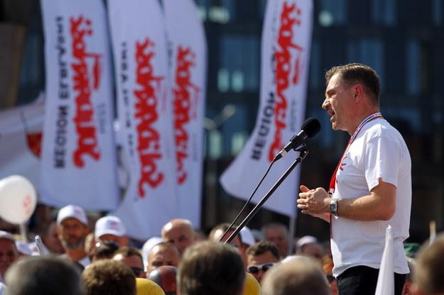 """Przewodniczący NSZZ """"Solidarność"""" Piotr Duda /Piotr Wittman /PAP"""