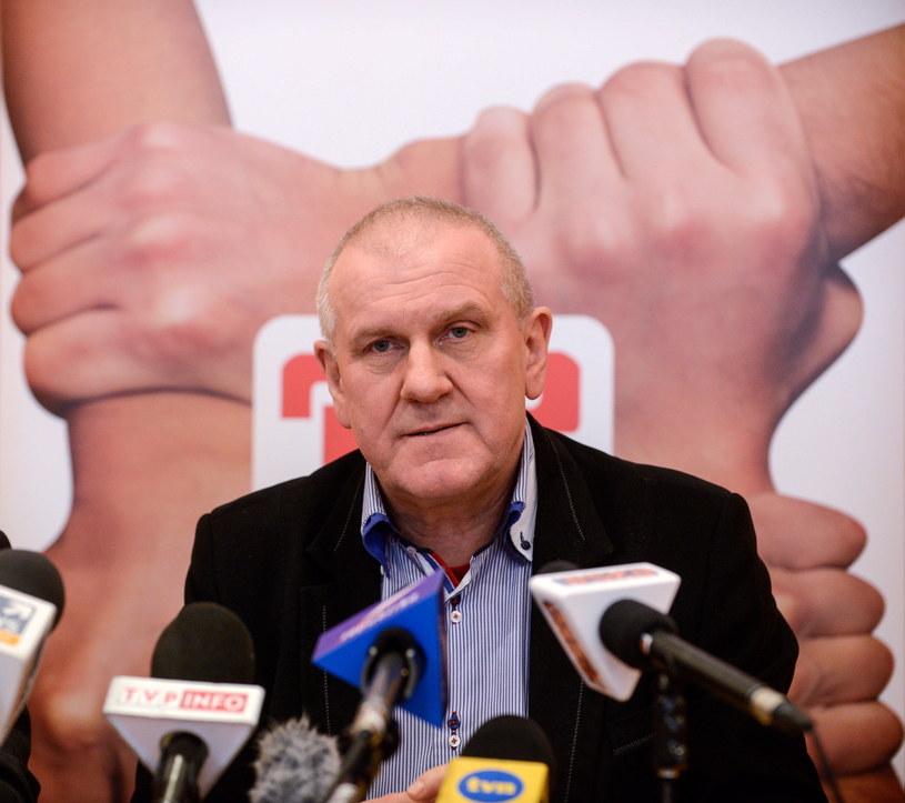 Przewodniczący OPZZ Jan Guz /Jakub Kamiński   /PAP