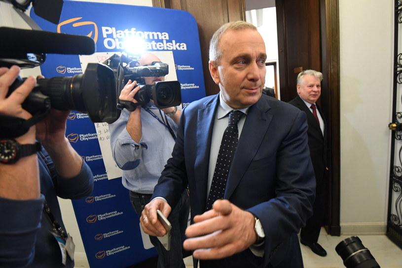 Przewodniczący Platformy Obywatelskiej Grzegorz Schetyna /Bartłomiej Zborowski /PAP