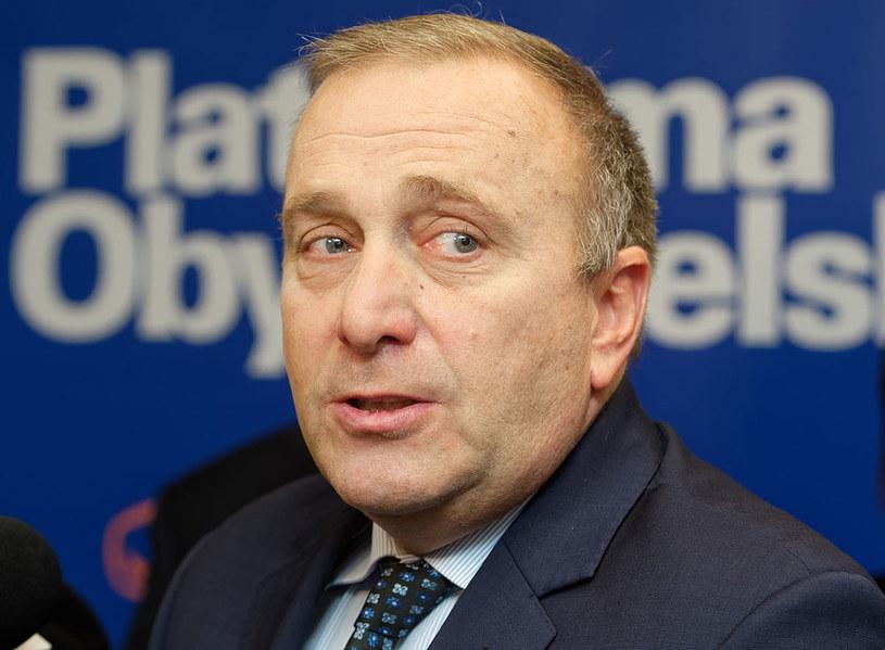 Przewodniczący Platformy Obywatelskiej Grzegorz Schetyna /Jan Karwowski /PAP