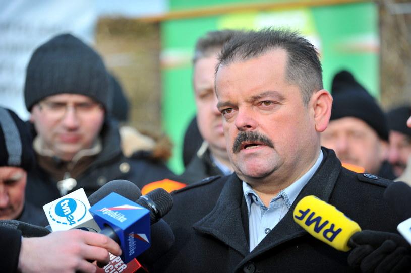 Przewodniczący rolniczego OPZZ Sławomir Izdebski /Przemysław Piątkowski /PAP