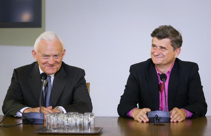 Przewodniczący Twojego Ruchu Janusz Palikot i przewodniczący SLD Leszek Miller /Paweł Supernak /PAP