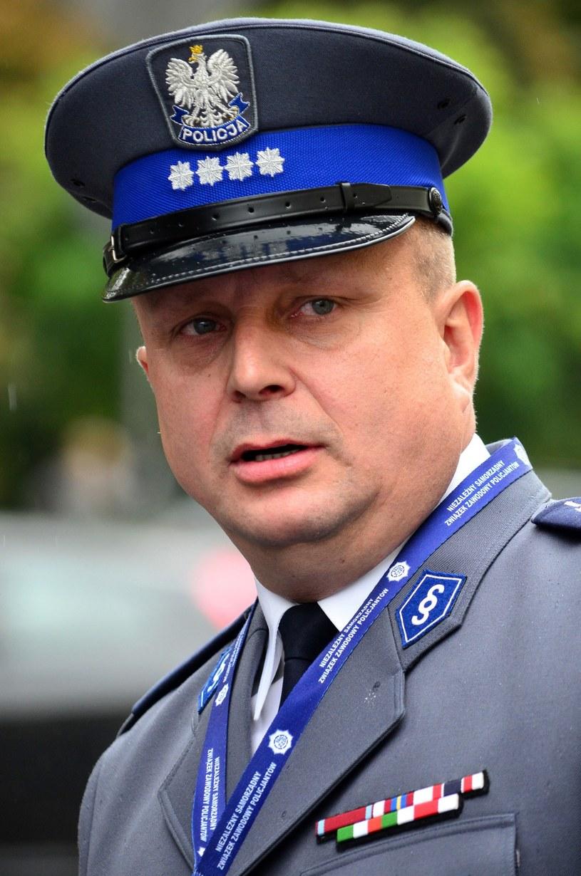 Przewodniczący ZG NSZZ Policjantów Grzegorz Nems /Mariusz Gaczyński /East News