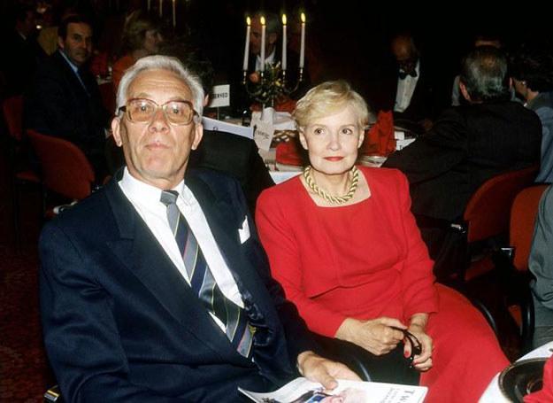 Przez wiele lat na szklanym ekranie Jan Suzin i Edyta Wojtczak tworzyli parę prezenterów /Igor Snieciński /Reporter