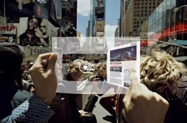 Przezroczysty i giętki - tablet przyszłości według Samsunga /Internet