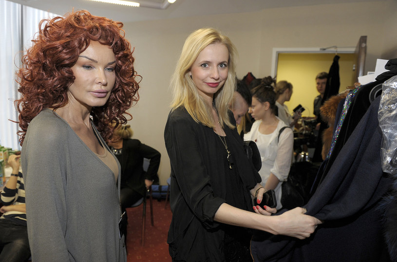 Przgotowania do pokazu kolekcji Ewy Minge w Moskwie w marcu 2012 /Jacek Kurnikowski /AKPA