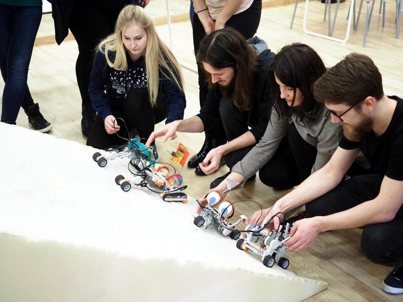 Przygotowania do wspólnego projektu Inspiro ze studentami z Wydziału Humanistycznego AGH, fot Beata Kwiecińska. /archiwum prywatne