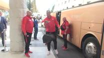 Przyjazd reprezentacji Polski do hotelu w Podgoricy