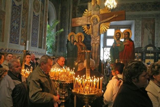Przynoszone do cerkwi są dużo skromniejsze niż palmy widywane w kościołach katolickich/fot.P. Mecik /Agencja FORUM