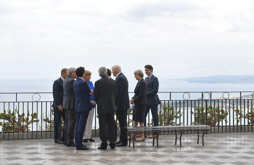 Przywódcy G7 w Taorminie /AFP