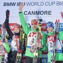 PŚ w biathlonie - wygrana niemieckiej sztafety mieszanej. Polacy nie startowali
