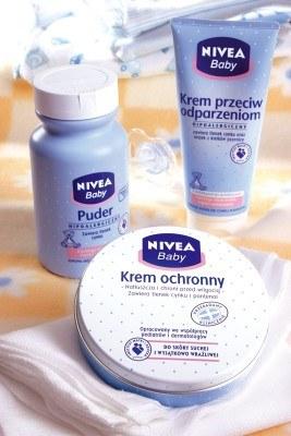 Puder i kremy NIVEA Baby chroniące przed odparzeniami /materiały prasowe